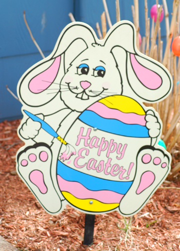 real easter bunnies and eggs. decorate eggs, easter hunt and